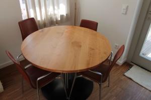 kersenhouten tafelblad diameter 112 cm