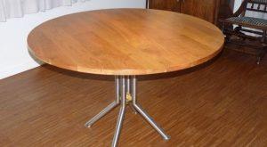 ronde tafel kersenhout diamert 125 cm