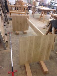 Massief eiken bureau kien met hout for Bureau en gros hours