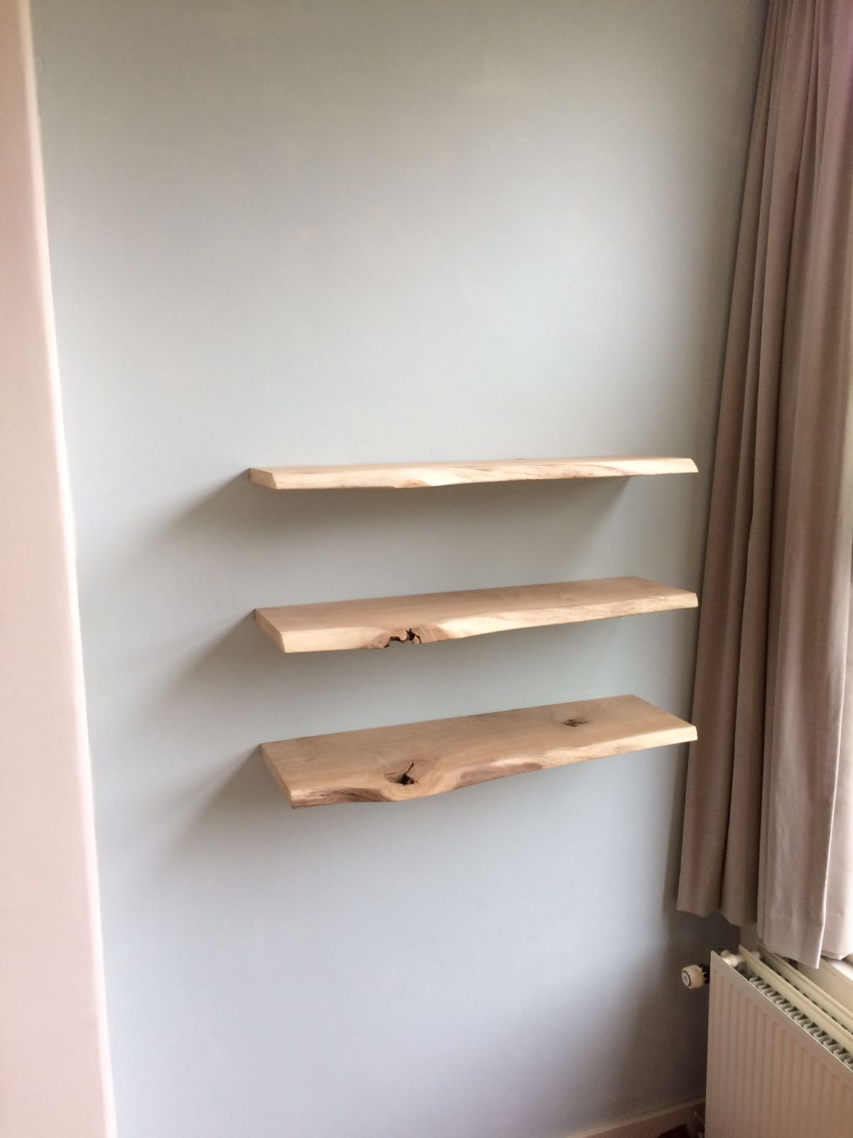 Zwevende Plank Hout.Zwevende Plank Steigerhout Trendy Zwevende Wandplanken With