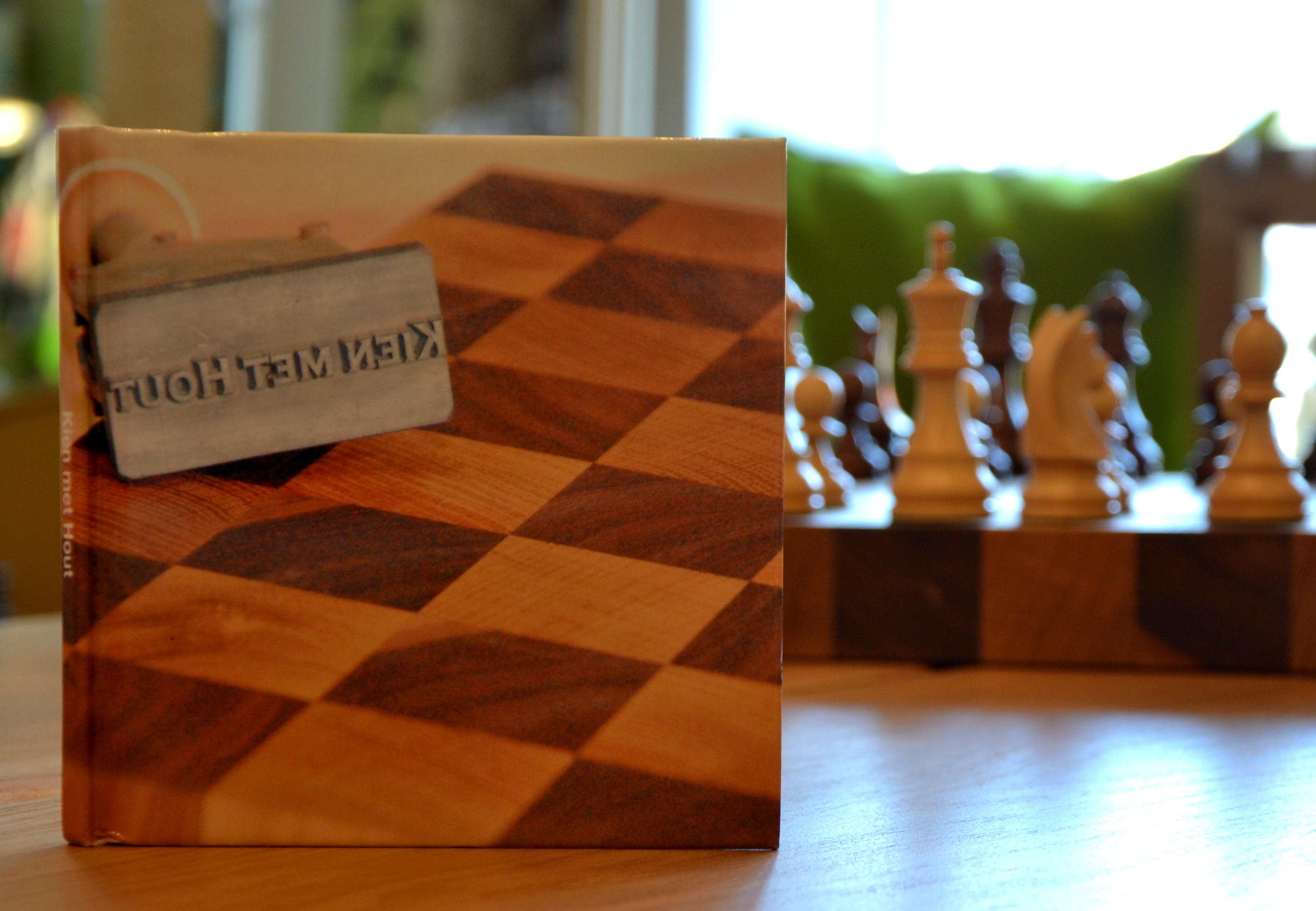 boekenkast kien met hout